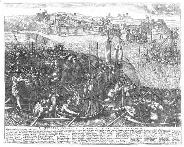 the-piccolo-soccorso-or-reinforcement-of-birgu-on-the-night-of-5th-july-1565