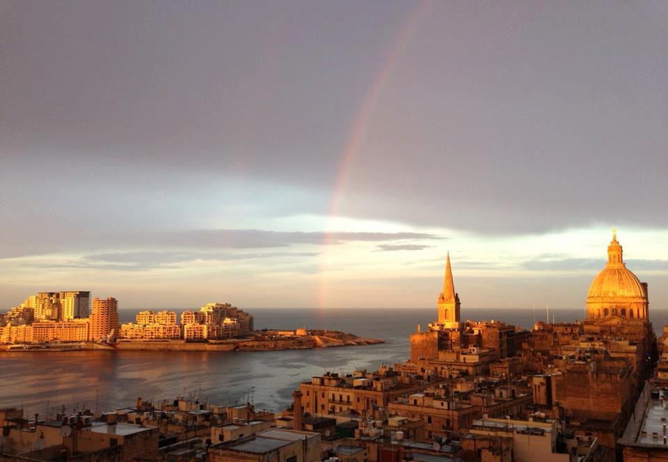 photo showing Valletta and Tigne Point Sliema