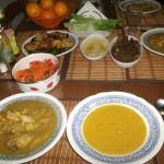 chicken & chickpea stew,Lentil soup & hummus