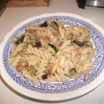 Fusilli with eggplant & zucchini