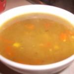 Spicy chicken & corn soup