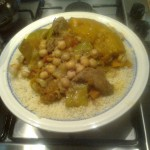 Couscous with lamb ,veg & chickpea stew.