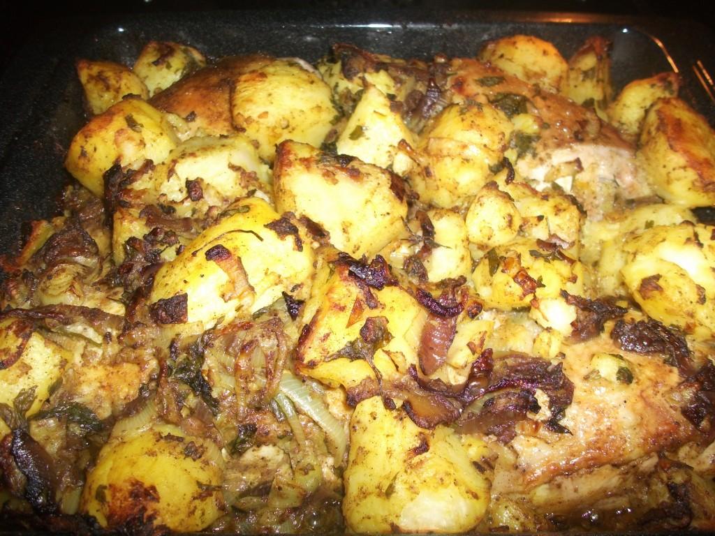 Iraqi Roast Chicken And Potatoes I Love Maltese Food