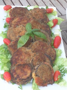 Skaloppini tal-Brunġiel (Aubergine escalopes)