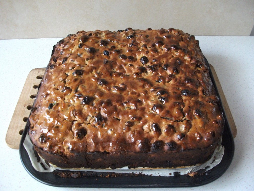 No Bake Candied Fruit Cake With Rum Flavoring
