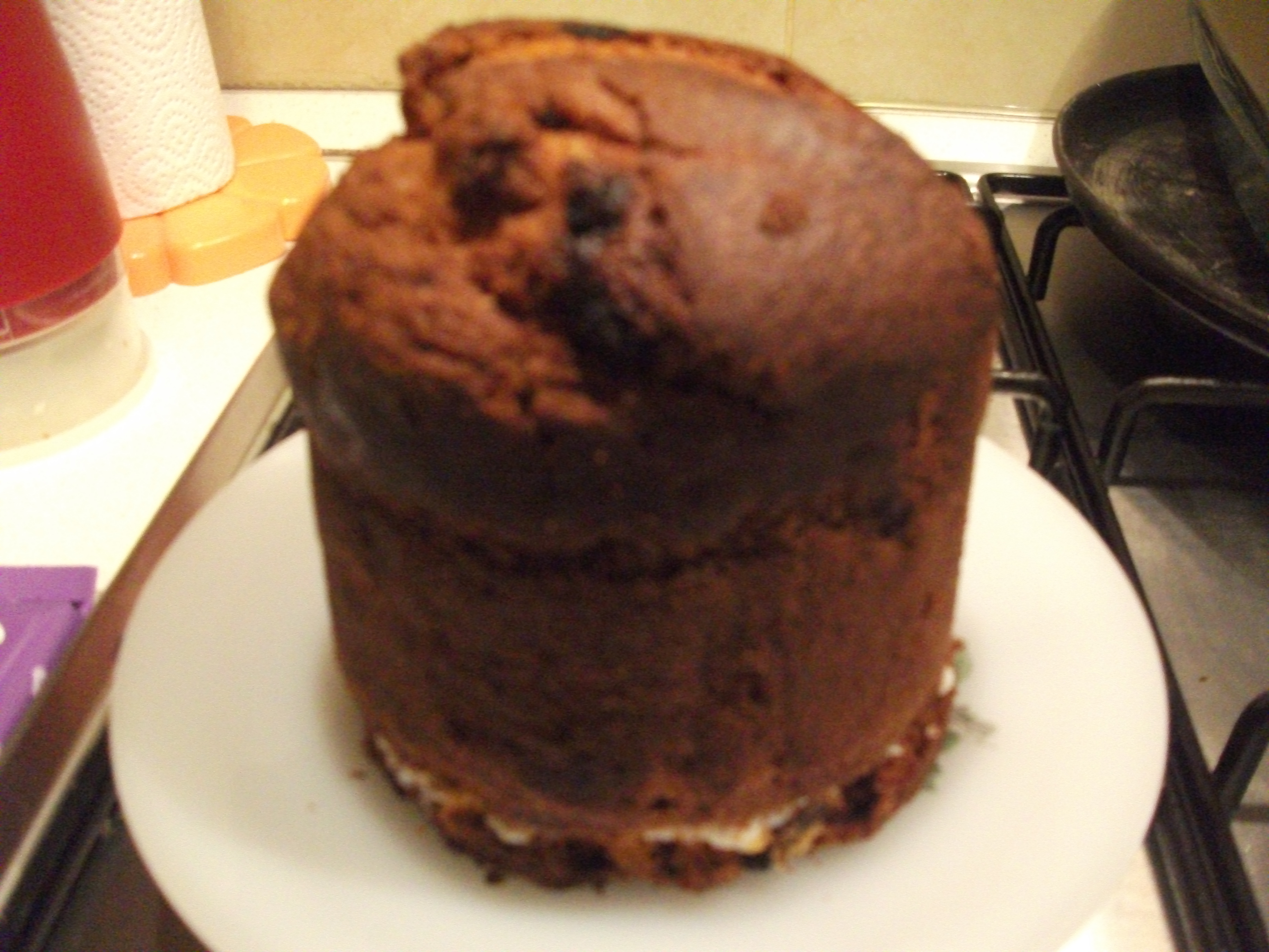 how to cut panettone cake
